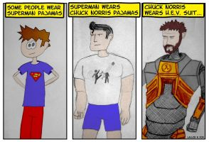 Chuck Norris's Pajamas by momentscomic