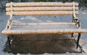snow bench by LuckyStock