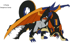 Halloween Adopt - Dragon - Adopted by Feralx1