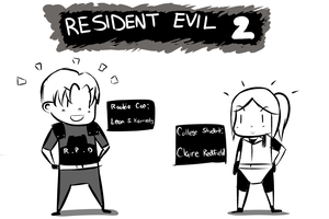 RE 2 minis by WaywardDoodles