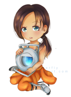 Chell + Wheatley 2015 by yesbutterfly