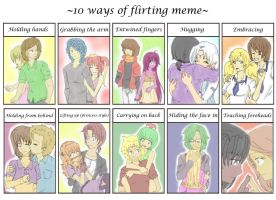 10 ways of flirting meme by Neridy