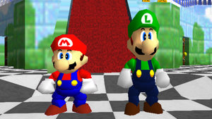 Sm64 Luigi Is Taller Than Mario by mbf1000