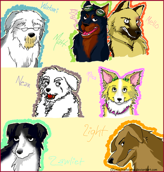 death note dogs by MischiefSister