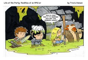 Dungeon crawling the sewers- RPG Comic by travisJhanson