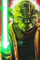 Star Wars portraits: Yoda by vividfury