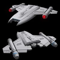 Star Trek MantaRay class WIP by AdamKop