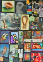 Higher Art Folio: Design First and Second Sheet by supersonicartdrawer