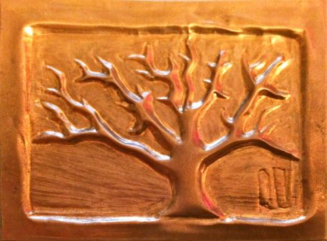 Tree (embossed copper) by wortmore