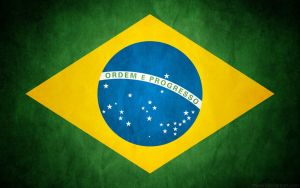 Brazil Grunge Flag - Brasil by think0