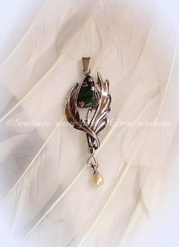 'Tear of the Elf' silver pendant (SOLD) by seralune