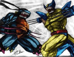 Slash Vs Wolverine By Felipe Rodrigues by Kenkira