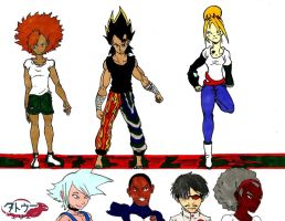 Tattoo Character Line Up - Color3 by Dreballin3x