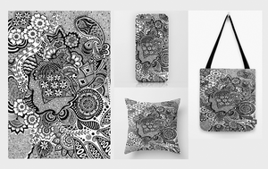 Art Print, Phone Cases, Throw Pillows, Tote bags by AnanyaArts