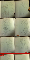 2012-2013 Traditional Art Dump by RAVE-DEM0N