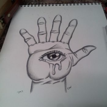 hand with a eye drawing i have done by Wallace21