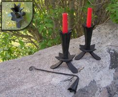 Floral candlesticks by Astalo