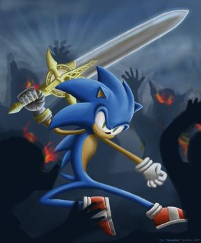 Sonic and The Sword by Sunstorm