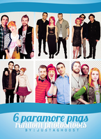6 random paramore png's by justaghoost