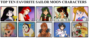 Top 10 Favourite Sailor Moon Characters by ZeFrenchM