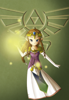 TP Chibi Zelda REMAKE by Icy-Snowflakes