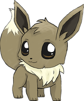 Eevee Chibi -coloured- by Typhloser
