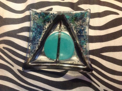Deathly hollows glass dish by Mind-Less-Thoughts