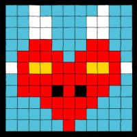 Heart Pixel Dragon by Lady-Tempest