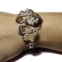 Steampunk Bracelet crystal by CatherinetteRings