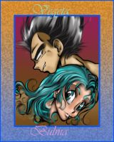 Bulma and Vegeta by DarkPenguin