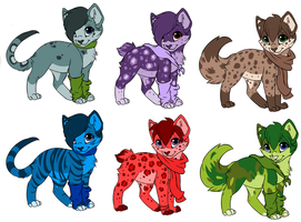 Cat adopts 3 by DappleFeather