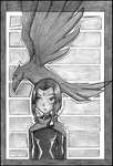 Raven and a Raven by chamzi