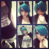 Miku Hatsune Cosplay ~Gothic/Steampunk (No tails) by SilverAppleStock