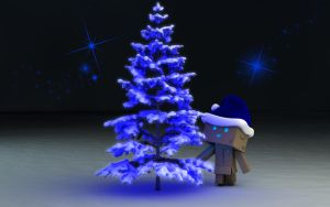 Danbo Blue Christmas Night by Dracu-Teufel666