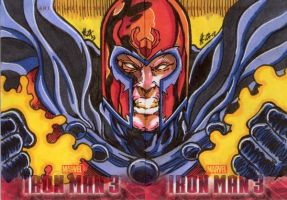 Iron Man 3 Cards Magneto by ElvinHernandez