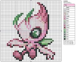 251 - Celebi - Shiny by Makibird-Stitching