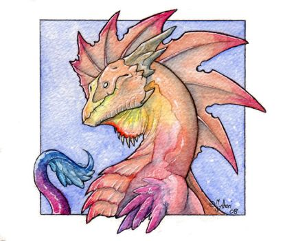 Watercolor dragon 10 by mythori