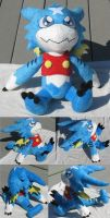 Commission: Gumdramon plush by SmellenJR