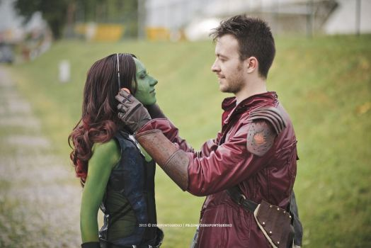 Gamora and Star-Lord by 14th-division