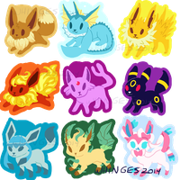 Eeveelution Charms by whinges