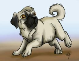 A pug 8D by 1Merel1