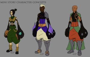 Character designs set 1 by hawthornearts