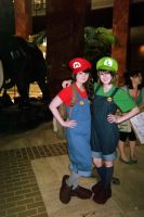A-Kon 2014 Super Mario Sisters!? by KittyChanBB