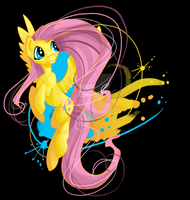 Living Art Fluttershy by EllisArts