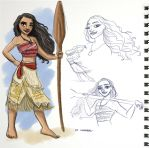 Moana With Splash of Color by kuabci
