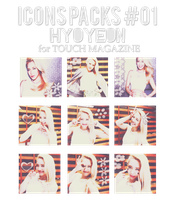 Icons Packs #01.~ Hyoyeon for TOUCH Magazine by Solita-San
