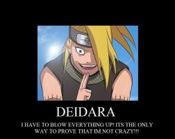 Deidara Demotivational Poster by thesalsaman