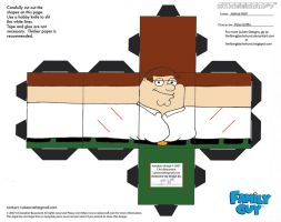FG1: Peter Griffin Cubee by TheFlyingDachshund