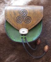 Celtic Spiral Belt Pouch by TheScreamingNorth