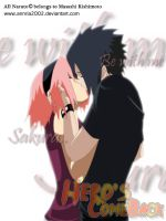 Sasusaku kiss by annria2002